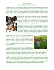 The APEC Smart Jobs Energy Efficiency Education ... - ESCI KSP