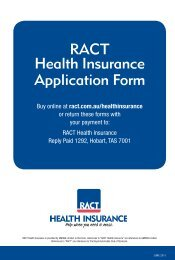 Download the application form - RACT