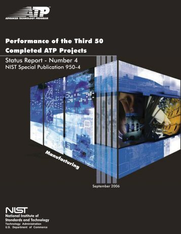 Performance of the Third 50 Completed ATP Projects Status Report ...