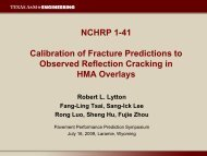 Calibration of Fracture Predictions to Observed Reflection Cracking ...