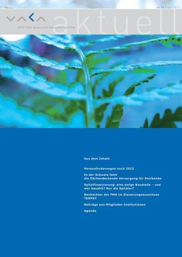 VAKA aktuell Nr. 51 vom April 2013