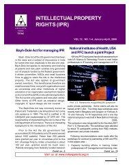 Vol 12 No.1- 4, January - April 2006 - Patent Facilitating Centre