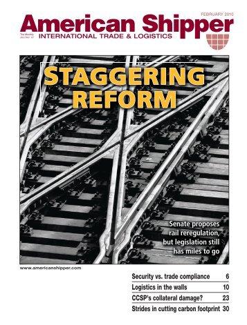 STAGGERING REFORM - American Shipper