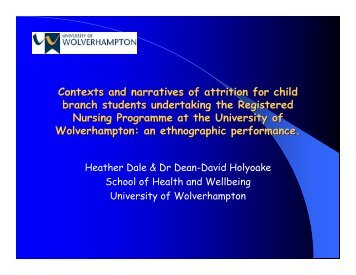 Contexts and Narratives of Attrition for Child Branch Students ... - ECE
