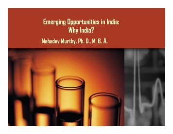Emerging Opportunities in India: Why India?