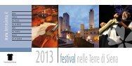 Festival nelle Terre di Siena 2013 - Provincia di Siena