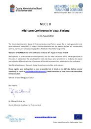 Mid-term Conference in Vasa, Finland - NECL II