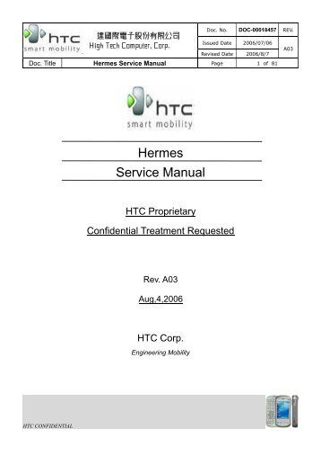 Htc hermes the successor of the mda/8125/wizard.