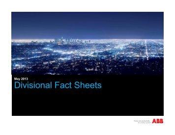 Divisional Fact Sheets