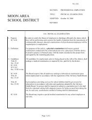 414 - Physical Examination - Moon Area School District