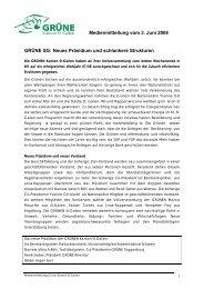 Neues Präsidium und schlankere Strukturen - Grüne Kanton St. Gallen