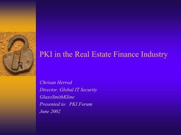 """Financial Case Study: """"Lessons Learned from an ... - Oasis-pki.org"""