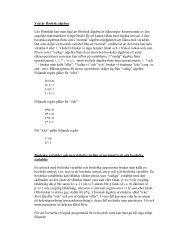 Vad är Boolesk algebra Lite förenklat kan man säga att Boolesk ...