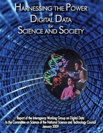Harnessing the Power of Digital Data for Science and Society - nitrd
