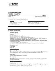 BASF Thoro 2K Primer MSDS - Brock White