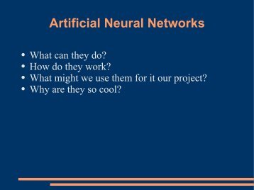 Neural Networks Tutorial - Association for Computing Machinery
