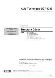 Avis Technique 2/07-1239 Structura Décor