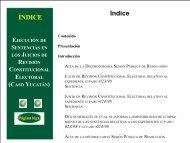ÍNDICE Indice - Tribunal Electoral del Poder Judicial de la Federación