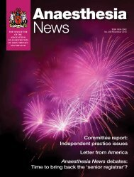 Independent practice issues Letter from America ... - aagbi