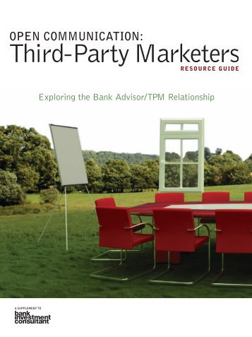 Third-Party Marketers Resource Guide - On Wall Street