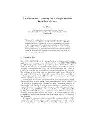 Reinforcement Learning for Average Reward Zero-Sum ... - CiteSeerX