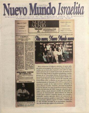 Page 1 Venezuela d o 13 DE DICIEMBRE DE 1999 AL 17 DE ...