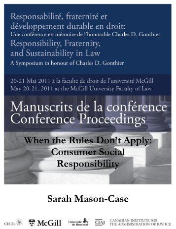 Consumer Social Responsibility - CISDL