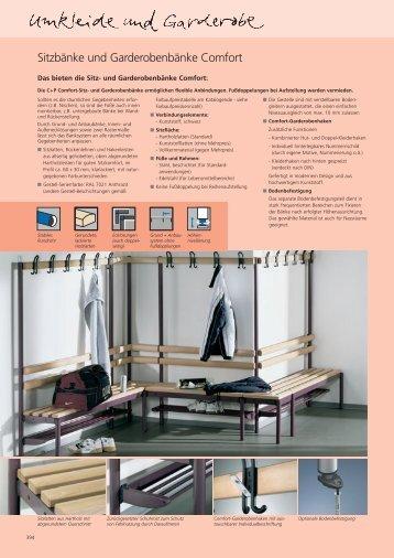 Sitzbänke und Garderobenbänke Comfort