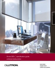 Sivoia QED® |specification guide - Lutron