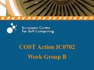Work Group B Introduction - COST Action IC0702