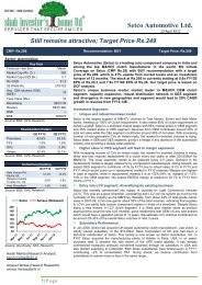 Setco Automotive Ltd. Initiating Coverage-SIHL ... - all-mail-archive