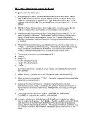 IYV 2001 – Plans for the year in Sri Lanka - World Volunteer Web
