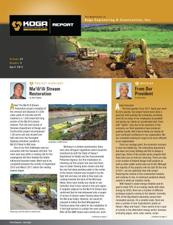 April - Koga Engineering & Construction, Inc.