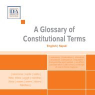 A Glossary of Constitutional Terms: English / Nepali