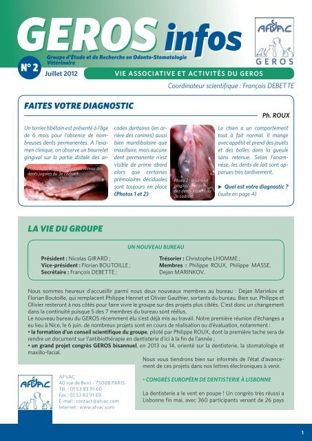 newsletter GEROS 2.indd - AFVAC