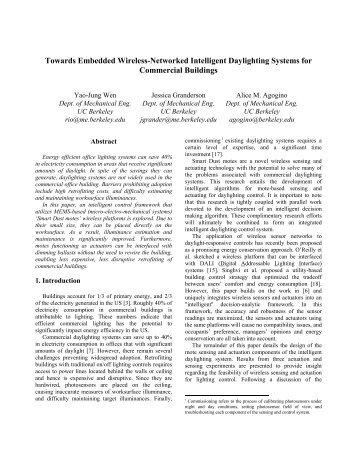 Towards embedded wireless-networked intelligent daylighting ...