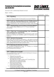 Protokoll der Kreismitgliederversammlung vom 18.08.2012
