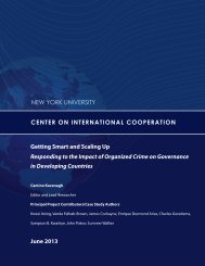 here - Center on International Cooperation - New York University