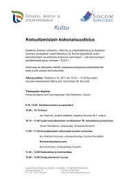 Kotouttamislain kokonaisuudistus 4.10.2011 Kouvolassa - Socom