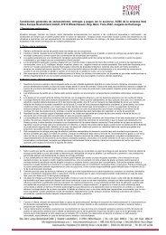 Condiciones generales de asesoramiento, entregas y pagos (en lo ...