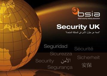 Security UK - British Security Industry Association