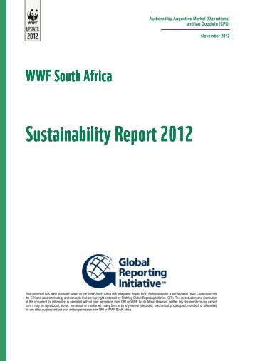 Sustainability Sustainability Report 2012 Report ... - WWF South Africa