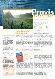 Ausgabe 7 / 2008 - Onkologische Schwerpunktpraxis Celle