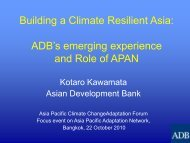 Building a Climate Resilient Asia - Asia Pacific Adaptation Network