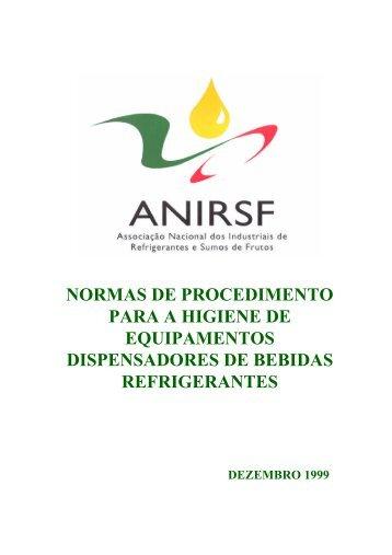 Normas de procedimento para a higiene de equipamentos - ESAC