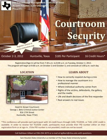 Courtroom Security