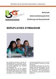 BERUFLICHES GYMNASIUM - Berufliche Schulen Gelnhausen