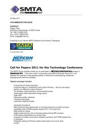 Call for Papers 2011 for the Technology Conference - SMTA