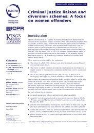Criminal justice liaison and diversion schemes - Offender Health ...