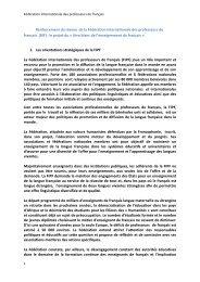 le projet du « livre blanc de - CECO - Fédération Internationale des ...